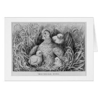 y, ala de las madres tarjeta de felicitación