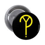 ¿Y amarilla? Símbolo en negro Pins