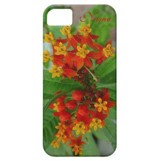 Y amarillas caja personalizada flores anaranjadas iPhone 5 Case-Mate funda