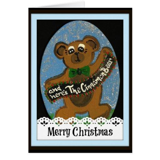 Y aquí está la tarjeta del oso de canela