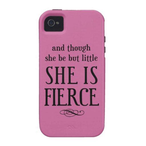 Y aunque ella sea pero poco, ella es feroz funda Case-Mate para iPhone 4