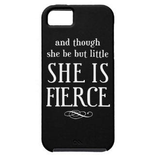 Y aunque ella sea pero poco, ella es feroz funda para iPhone 5 tough