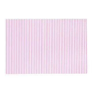Y blanca Placemat laminado tela a rayas rosada Tapete Individual