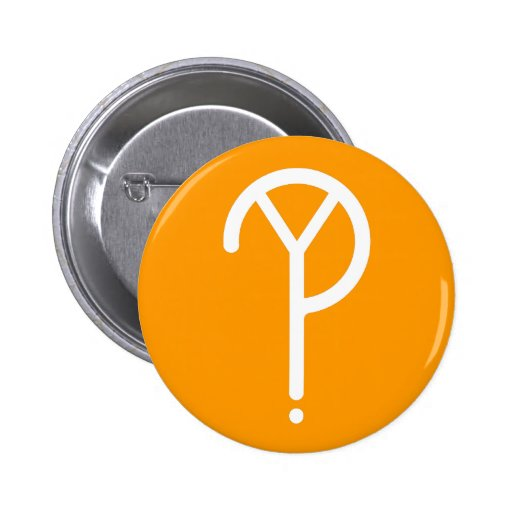 ¿Y blanca? Símbolo en el naranja Pins
