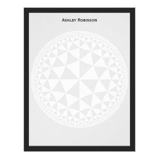 Y blanco mandala llenada triángulo negro plantilla de membrete