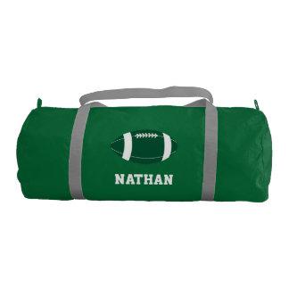 Y blanco petate personalizado fútbol verde bolsa de deporte
