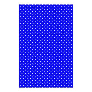 Y-Blanco-Polca-Puntos Azul-Oscuros Papeleria