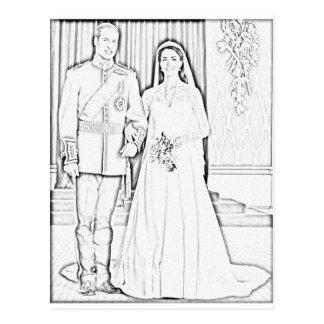 Y boda del kate tarjetas postales