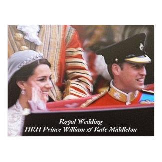 Y boda real de Kate Tarjeta Postal