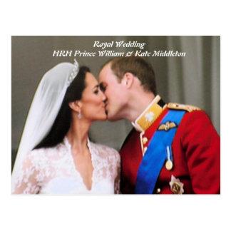 Y boda real de Kate Postal