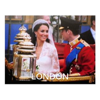 Y boda real de Kate Tarjetas Postales