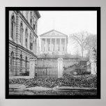 Y capitolio de aduanas en Richmond, VA 1865 Poster