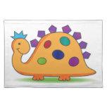 Y colorido dinosaurio manchado dibujo animado manteles individuales