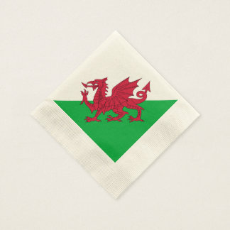Y Ddraig Goch: Welsh Flag Cocktail Napkin (Coined)