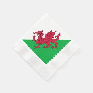 Y Ddraig Goch: Welsh Flag Coined Cocktail Napkins