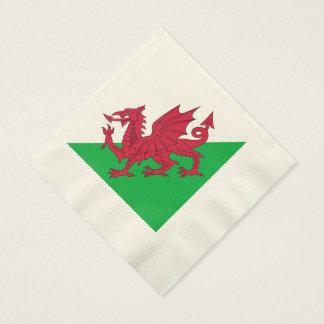Y Ddraig Goch: Welsh Flag Coined Luncheon Napkins