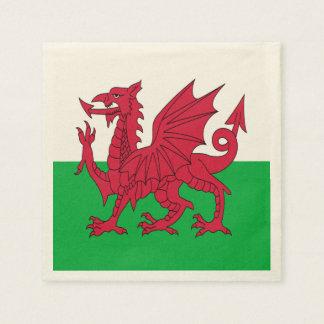 Y Ddraig Goch: Welsh Flag Standard Cocktail Napkin