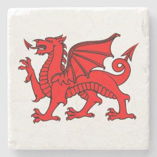 Y Ddraig Goch (Welsh Red Dragon) Coaster Stone Coaster