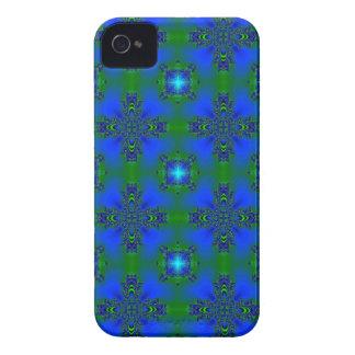 Y Deco de especie en Retro Style verde azul sterne iPhone 4 Cárcasa