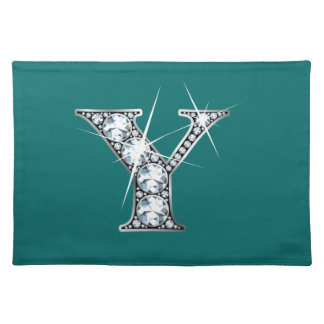 """Y"" Diamond Bling American MoJo Placemat"