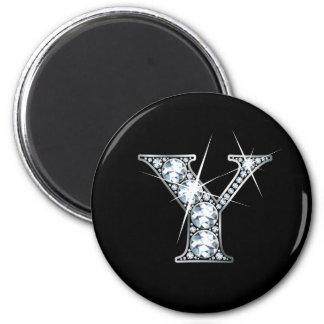 """Y"" Diamond Bling Magnet"