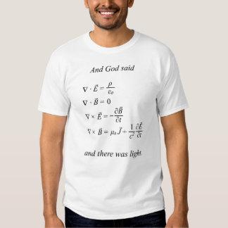 Y dios dijo [las ecuaciones] del maxwell (el camisas