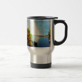 Y dios fijó un arco iris en el diseño de la foto d taza de café