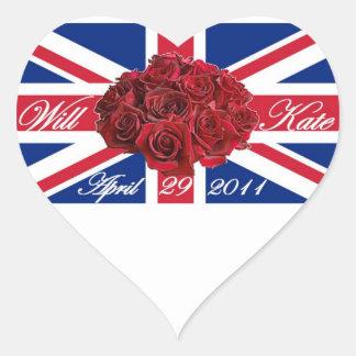 Y edición de Kate 2011 Limited conmemorativa Pegatina En Forma De Corazón