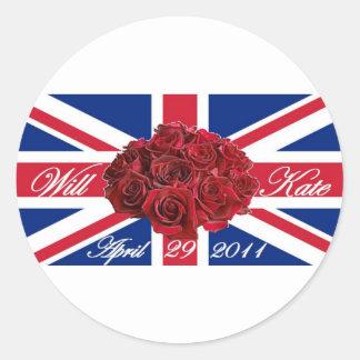 Y edición de Kate 2011 Limited conmemorativa Pegatina Redonda