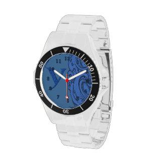 Y - El alfabeto de Falck (azul) Relojes De Pulsera