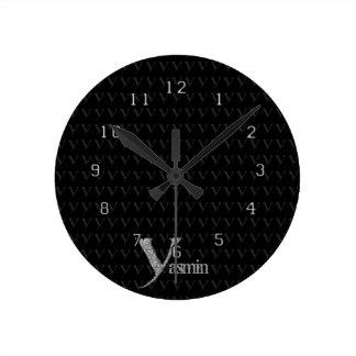 Y - El alfabeto de Falck (plateado) Relojes De Pared
