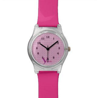 Y - El alfabeto de Falck (rosa) Relojes De Pulsera