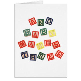 Y el bebé hace tres…. tarjeta