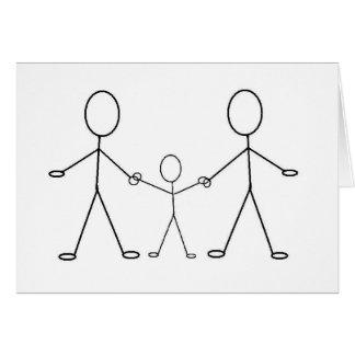 Y el bebé hace tres tarjeta de felicitación
