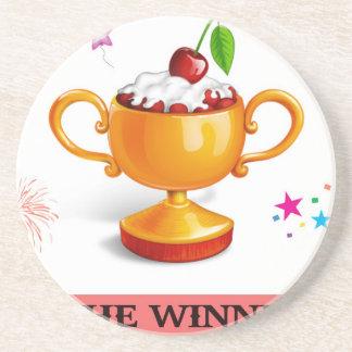Y el ganador es taza del postre posavasos diseño
