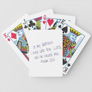 Y él me oyó baraja cartas de poker