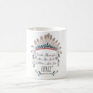 Y ella esté sin embargo pero poco, ella sea feroz… taza básica blanca