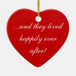¡… y ellos vivió feliz siempre después! adornos de navidad