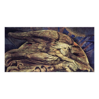 Y Elohim creó a Adán de Guillermo Blake Tarjetas Fotograficas