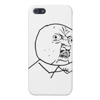 Y enojada U ninguna cara iPhone 5 Carcasas