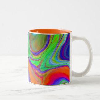"""¡""""y entonces mida el tiempo"""" del mug~ arrugado del taza de dos tonos"""