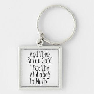 Y entonces Satan dijo… Llavero Cuadrado Plateado