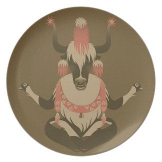 Y está para los yacs de Tíbet Platos De Comidas