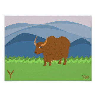 Y for Yak Poster