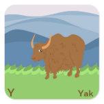 Y for yak Sticker