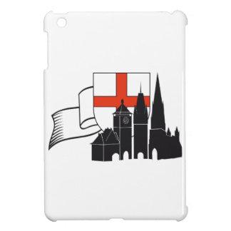 Y Freiburg silueta con escudos de armas Amola iPad Mini Coberturas