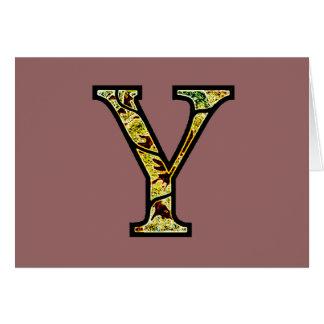 Y Illuminated Monogram Card