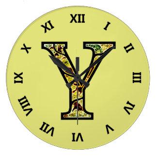 Y Illuminated Monogram Large Clock
