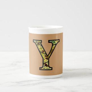 Y Illuminated Monogram Tea Cup