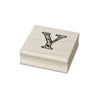 Y Illuminated Monogram Wood Art Stamp